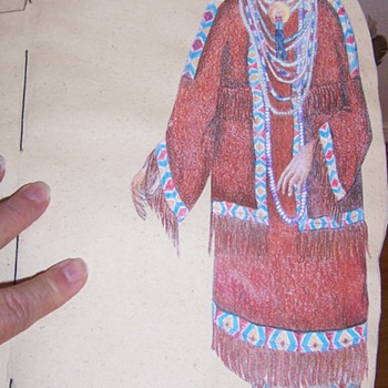 hand made Native American woman paper doll book
