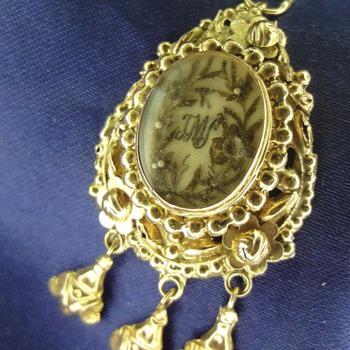 14K Rose gold Mourning pendant