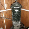 vintage antique Aurora cast iron stove