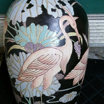 What is going on with this vase? Did somebody paint over this? - Asian