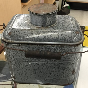 Old I think Granite type of lunch pail????? - Kitchen
