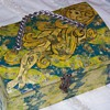 Decoupage with abalone jewelry chest box