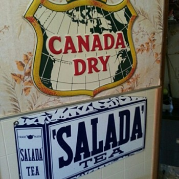 Canada Dry and Salada Signs