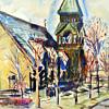 Watercolor-Street Scene (City Scape)