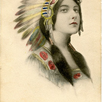 Indian Maiden Postcard 1911 - Postcards