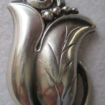 Alphonse La Paglia Sterling Silver Tulip - Silver