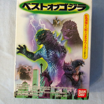 miniature Godzilla model set - Toys