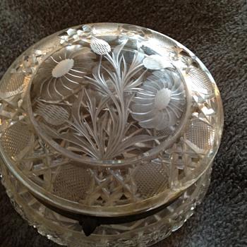 American Brillant Cut Glass Collar Box - Glassware