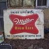 1954 MILLER HIGH LIFE metal signs UPDATE