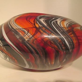 Stunning Studio Glass bowl unidentified. Please help. - Art Glass