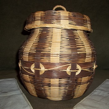 Cherokee Honeysuckle and White Oak Basket, Made By Emily Smith - Native American