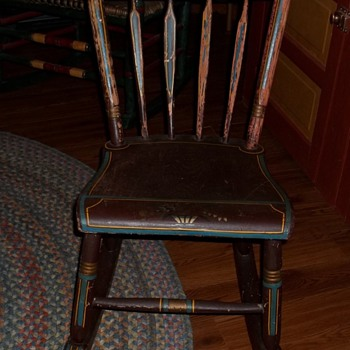Old child's rocking chair