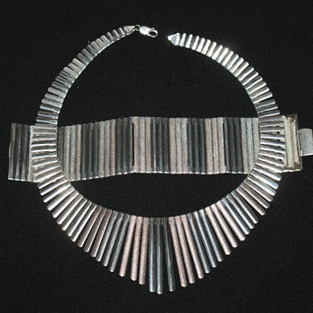 Vintage Sterling Necklace and Bracelet - Egyptian Style