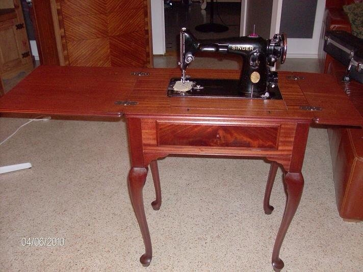 Restored Singer Sewing Machine Cabinet Collectors Weekly Mesmerizing How To Restore Old Sewing Machine Cabinet