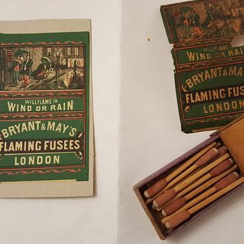 My box of flaming fusees - Tobacciana