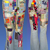 NY artist JACQUELINE FOGEL's vintage 1960s /early 1970s Hippie Patchwork Jeans