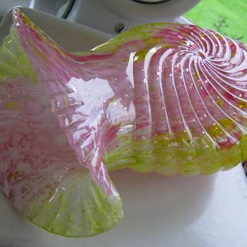 1898 Legras Spatter Glass Vase