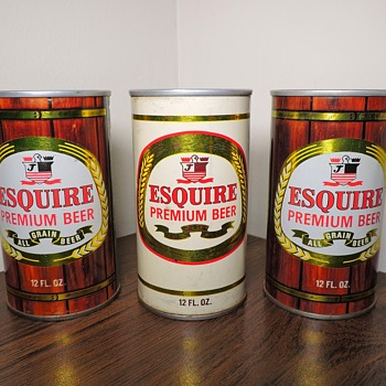 Vintage Esquire Steel Beer Cans 12 Ounces Jones Brewing Smithton Pennsylvania Collectibles - Breweriana