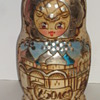 Wooden Box/Doll hand painted