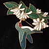 Humingbrid Brooch / Pin signed - unknown mark