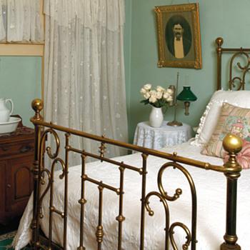 Victorian Brass Bed - Furniture