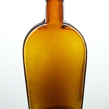 Late 1800's Strap Sided Flask - Bottles