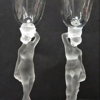Bayel Crystal - Bacchante / Bacchus Cocktail Glasses - Art Glass