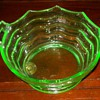 Day-glo Green Depression Glass Bowl
