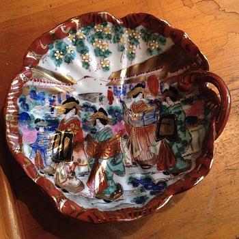 Late 1890's? Beautiful Nippon Oriental Dish - Asian
