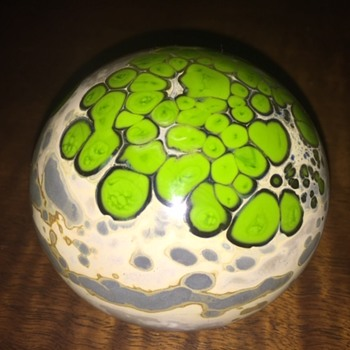 "Unknown Artist ""Patrick"" Signed Art Glass Paperweight - Art Glass"