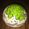 """Unknown Artist """"Patrick"""" Signed Art Glass Paperweight"""