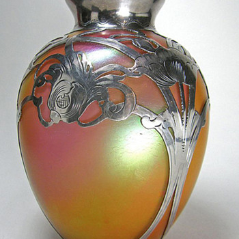 Wondering who made this Bohemian vase? Silver by La Pierre. - Art Glass