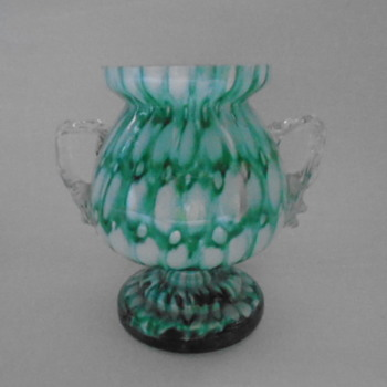 Welz Controlled Bubble Trophy Vase - Art Glass