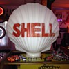 Original Milkglass Clam Shell Gas Pump Globe...1930's-1940's