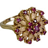 Flower Ruby Cocktail Ring