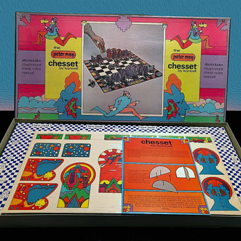 Unused & Sealed Vintage 1970s Peter Max Chess Set by Kontrell.  - Fine Art