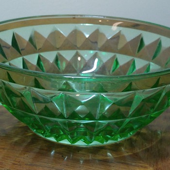 Uranium Glass Sugar Bowl