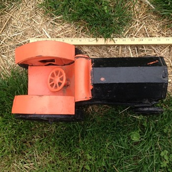 Old Toy Tractor or Folk Art - Toys