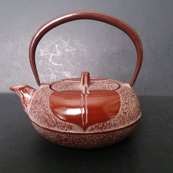 Iwachu persimmon cast iron kyusu - Asian