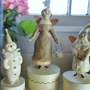 Winter Carnival Angel, Winter White Angel, and Snowman Clown - Dolls
