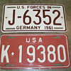 U.S. Forces In Germany License Plates