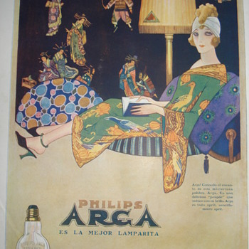 Art Deco advertising electric bulb lamp - Advertising