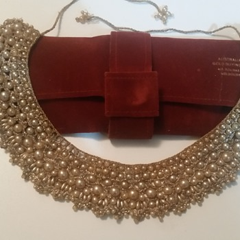 ANTIQUE HAND CRAFTED PEARL ENCRUSTED PEARL NECKLACE