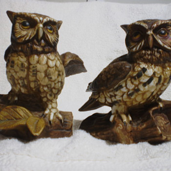 Ceramic Owl Figurines - Animals