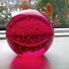Large cerise\pink  paperweight