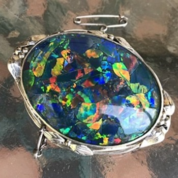 Wager opal brooch - Arts and Crafts