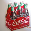 "1954 Die-Cut Coca-Cola Six-Pack Sign 11""x12"""