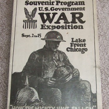 WW1 War Exposition Booklet - Military and Wartime