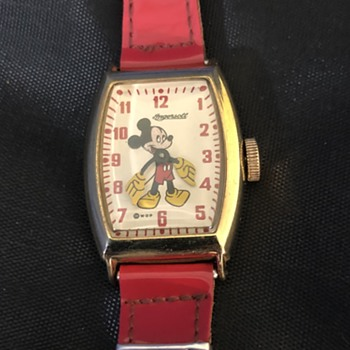 1947  Mickey Mouse Watch  - Wristwatches