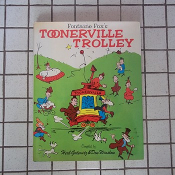 "BOOK, ""TOONERVILLE TROLLEY""  STRIP CARTOONS OF FONTAINE FXOX FROM 1920s, 184 all Illustrated Pages,HB,DJ. - Books"
